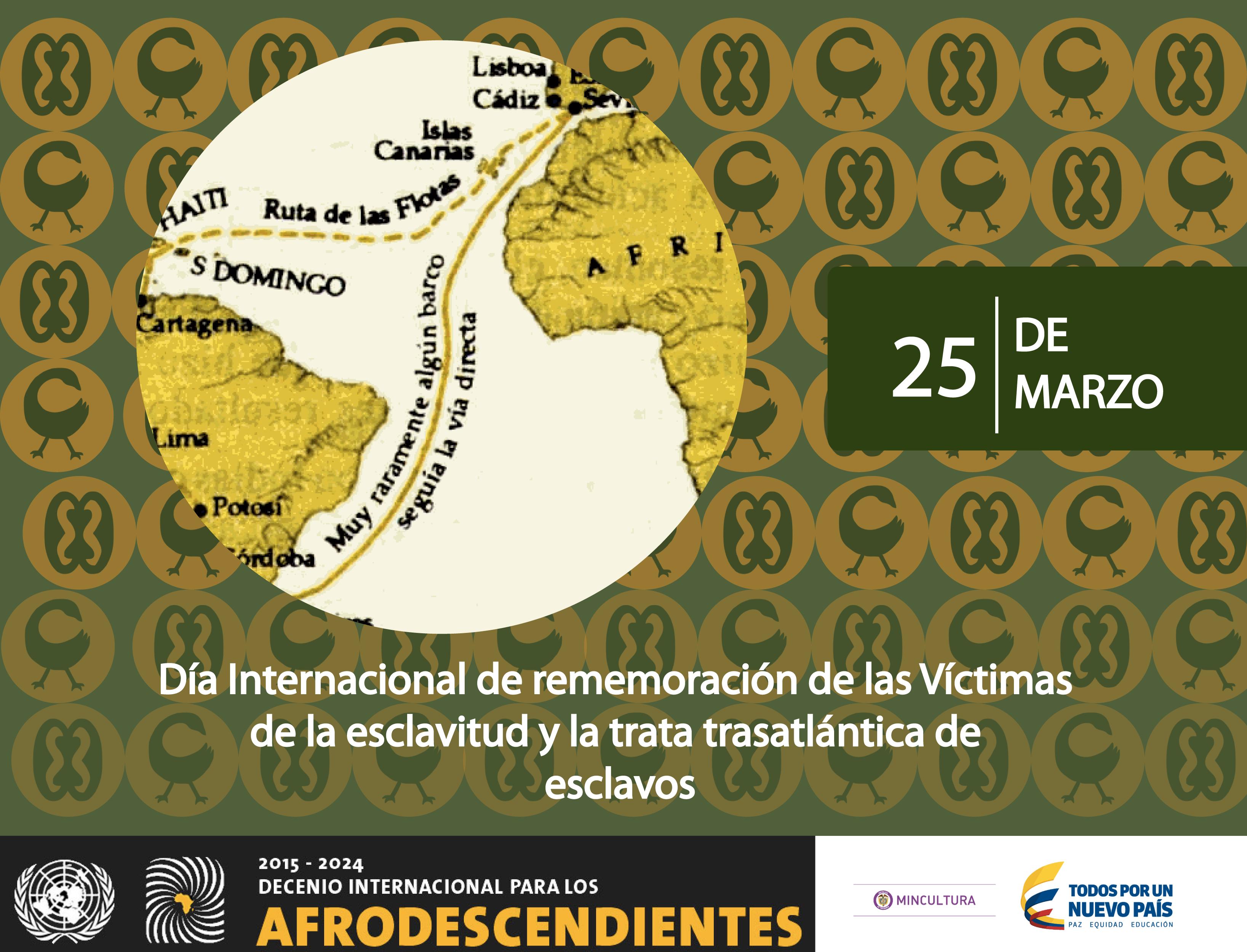 Resultado de imagen de Día Internacional de Recuerdo de las Víctimas de la Esclavitud y la Trata Transatlántica de Esclavos (25 de Marzo)